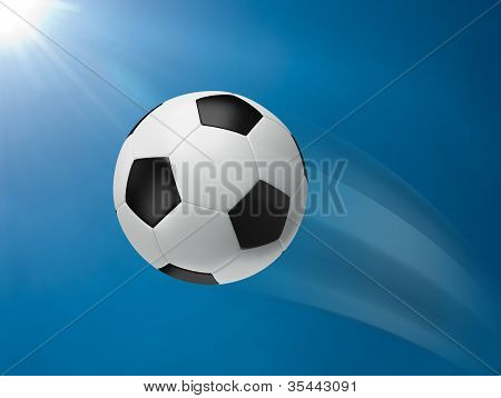 Action Of Football Moving