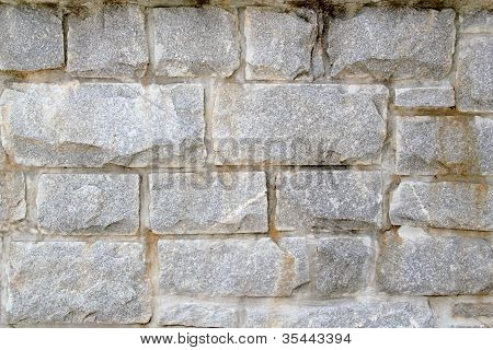 Stacked Stone Block Wall