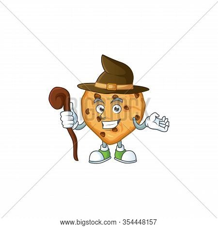 Sweet And Tricky Witch Chocolate Chips Love Cartoon Character