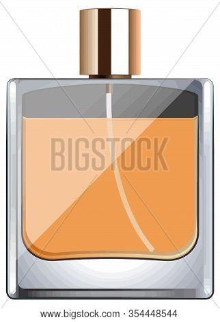 Eau De Toilette Perfume Cologne Fragrance Smell Bottle Illustration