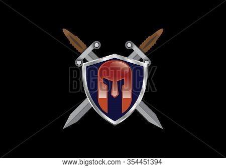 Warrior Helmet Logo, Warrior Logo  Design Template