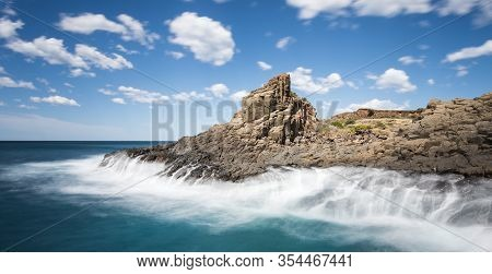 Dramatic Seascape At Bombo Quarry Near Kiama On The South Coast Of New South Wales.