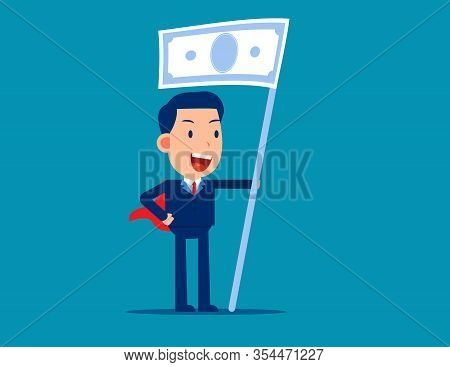 Social Capitalism. Financial Concept, Little Business Cartoon Vector Illustration Design.