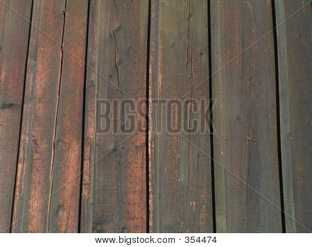 Green Barn Boards Faded And Weathered