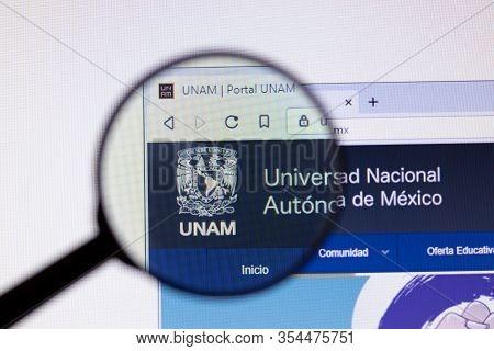 Los Angeles, California, Usa - 7 March 2020: Universidad Nacional Autonoma De Mexico Unam Website Ho