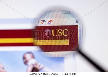 Los Angeles, California, Usa - 7 March 2020: University Of Southern California Usc Website Homepage
