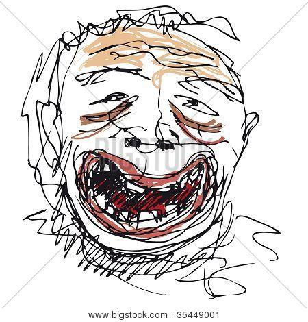 Stupid smile
