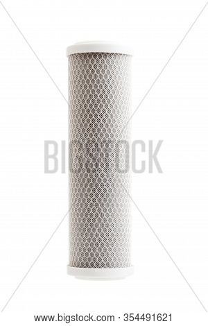 Carbon Filter For Water Purification With A Mesh Structure Of Fishing Line, Replaceable Cartridge Fo