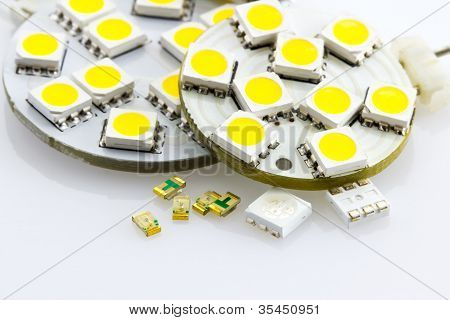 not assigned single-chip and three-chip SMD also embedded ready on G4 bulbs poster