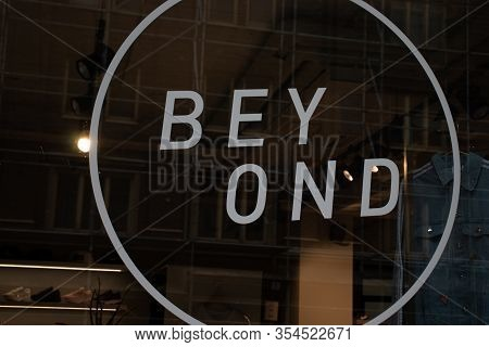Helsinki, Finland - 3 March 2020: Beyond Store Logo On Street , Illustrative Editorial