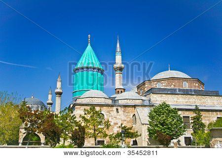 Mevlana - sacred Sufi center in Konya, Turkey poster
