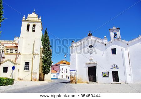 Square Of Alvito Village, Alentejo, Portugal