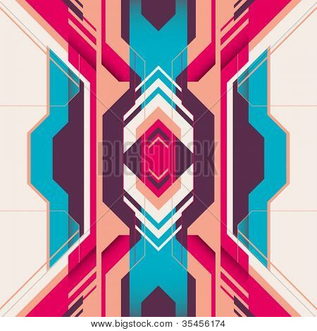 Futuristic abstraction with colorful shapes. Vector illustration.