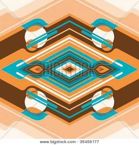 Designed colorful abstraction. Vector illustration.