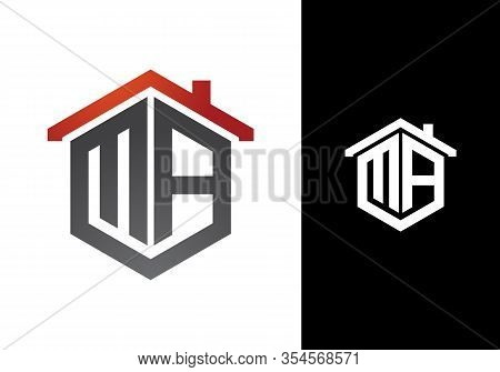 Initial Letter M A Logo With Roof, Real Estate Logo Design Concept