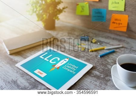 Llc Limited Liability Company. Business Strategy And Technology Concept.