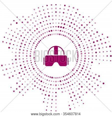 Purple Virtual Reality Glasses Icon Isolated On White Background. Stereoscopic 3d Vr Mask. Abstract
