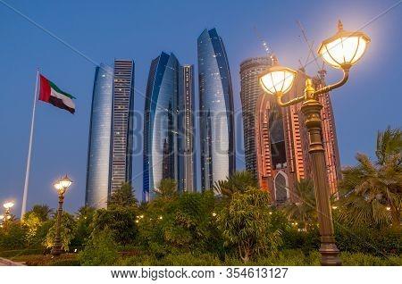 Etihad Towers And Abu Dhabi Skyline. Abu Dhabi - Uae. 07 June 2014