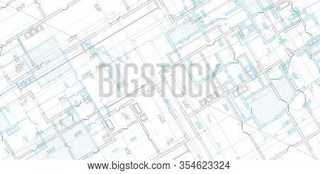 Architectural Plan .house Plan Project .engineering Design .industrial Construction Of Houses .vecto