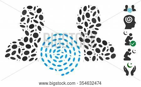 Dot Mosaic Based On Hypnosis Sect. Mosaic Vector Hypnosis Sect Is Composed With Randomized Ellipse S