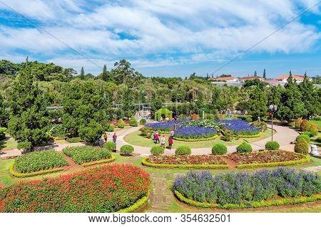 Dalat-vietnam-april 27, 2019: Beautiful Scenery Of Famous Flower Park On April 27,2019 In Dalat, Vie