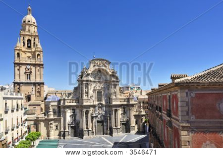 Cathedral In Murcia Spain