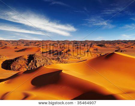 Sand dunes of Sahara Desert, Tadrart, Algeria