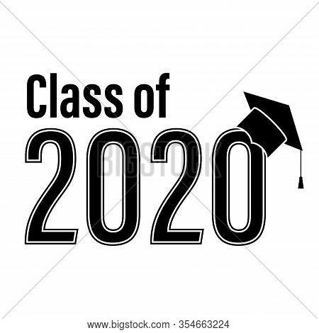Class Of 2020 School Graduation Congrats Vector Illustration