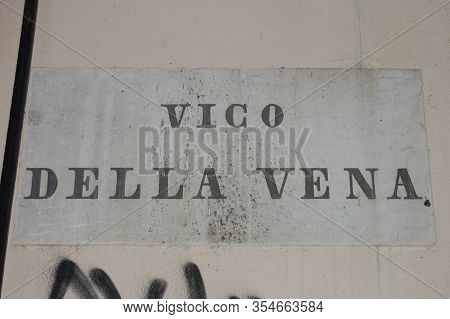 Genoa Milepost In The Road Of A City