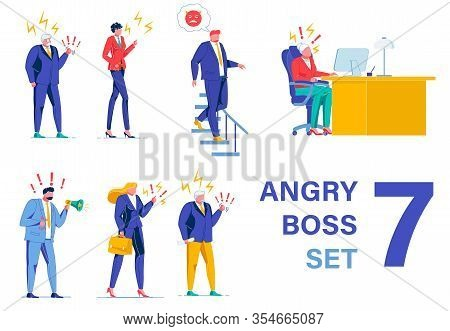 Set Depicting Despotic Bosses, Yelling And Shouting, Making Atmosphere Unbearable, Spoiling And Pois