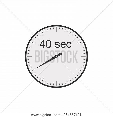 Simple 40 Seconds Or 40 Minutes Timer. Stock Vector Illustration Isolated On White Background.