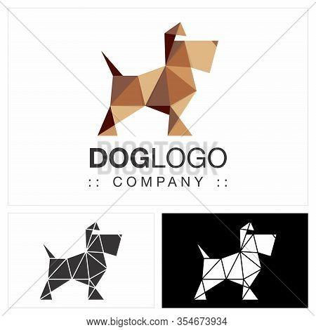 Beautiful Dog (schnauzer) Vector Symbol Logo. Pet Shop Logotype. Animal Logo Icon Illustration. Eleg