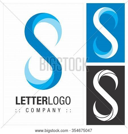 Letter S (infinity) Vector Symbol Company Logo (logotype). Endless (unlimited) Icon Illustration. El