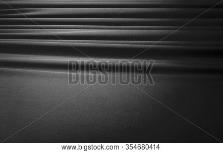 Abstract Black and white silk curtain background.