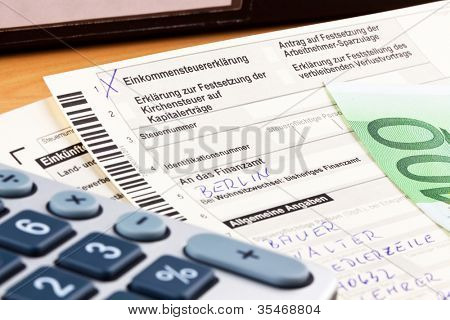 a german tax return for income tax is mandatory.
