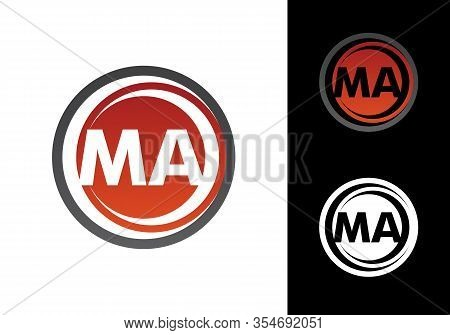 M A Ma Initial Letter Logo Design Vector Template, Graphic Alphabet Symbol For Corporate Business Id