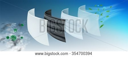 The Filter Layer Of The Surgical Mask The First Layer Is Coated With Antiseptics, Viruses And Bacter