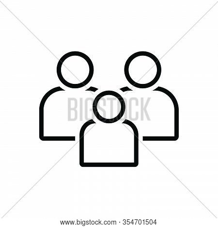 Black Line Icon For Family Tribe People Folk Group Ancestry Heritage Genealogy Human Together
