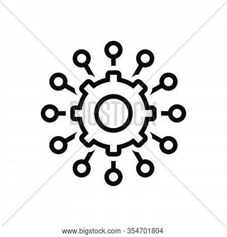 Black Line Icon For Manage Administer Dominate Organize Maintain Supervise