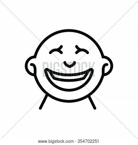 Black Line Icon For Laugh Guffaw Jibe Jest Josh Chuckle Giggle Grin Howl Whoop Snort