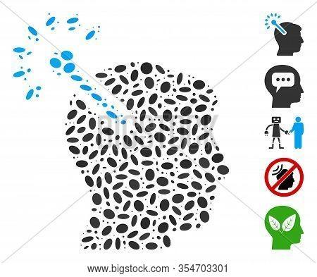 Dot Mosaic Based On Optical Neural Interface. Mosaic Vector Optical Neural Interface Is Designed Wit