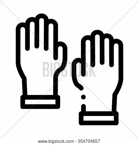 Master Gloves Icon Vector. Outline Master Gloves Sign. Isolated Contour Symbol Illustration