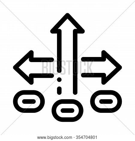 Choice Decision Icon Vector. Outline Choice Decision Sign. Isolated Contour Symbol Illustration