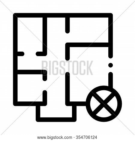 Wrong Plan Icon Vector. Outline Wrong Plan Sign. Isolated Contour Symbol Illustration