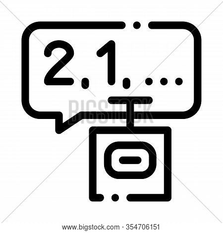 Countdown To Bang Icon Vector. Outline Countdown To Bang Sign. Isolated Contour Symbol Illustration