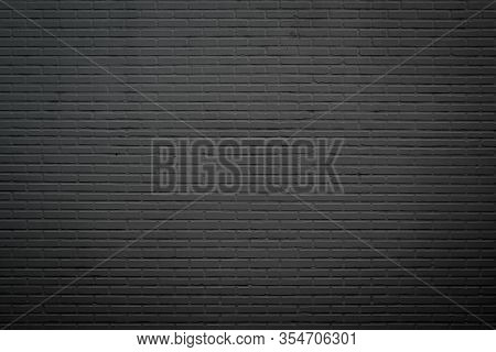 Wall Dark Brick Wall Texture Background. Brickwork Or Stonework Flooring Interior Rock Old Pattern C