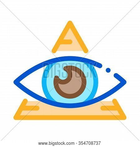 All-seeing Eye Icon Vector. Outline All-seeing Eye Sign. Color Isolated Contour Symbol Illustration