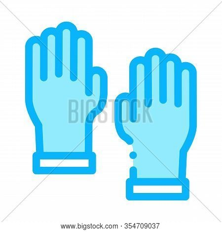 Master Gloves Icon Vector. Outline Master Gloves Sign. Color Isolated Contour Symbol Illustration