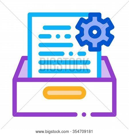 Document Treat Icon Vector. Outline Document Treat Sign. Color Isolated Contour Symbol Illustration