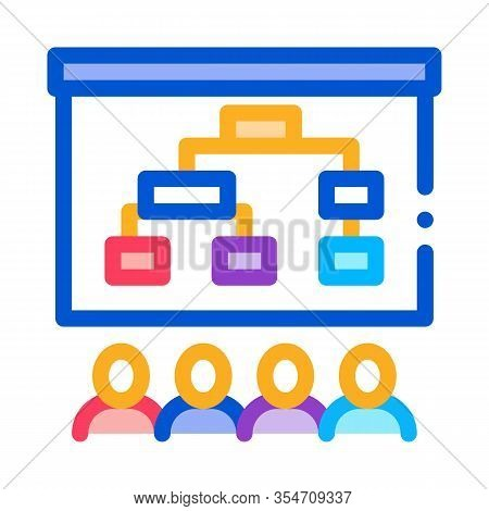 Strategic Plan Icon Vector. Outline Strategic Plan Sign. Color Isolated Contour Symbol Illustration